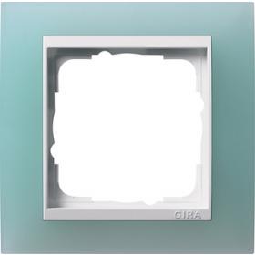 Рамка 1-ая Gira Event Матово-салатовый/Белый 211395 IP20
