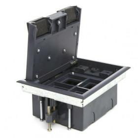 70040 Люк в пол на 4 механизма 45*45мм (LUK/4) пластиковый, Чёрный