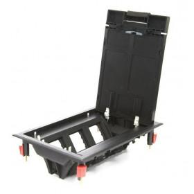 70060 Люк в пол на 6 механизмов 45х45мм (LUK/6) пластиковый, Чёрный