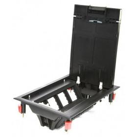 70081 Люк в пол на 8 механизмов 45*45мм (LUK/8P) пластиковый. Чёрный