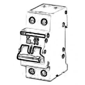 2CDE282001R1063 Выключатель нагrрузки(рубильник) модульный(E202g) 2-полюса 63A рычаг серый