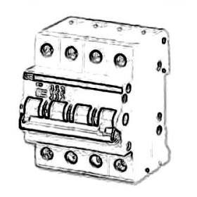 2CDE284001R1045 Выключатель нагrрузки(рубильник) модульный(E204g) 4-полюса 45A рычаг серый