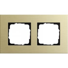 0212217 Рамка 2-ая(ESPRIT), Алюминий Золотой