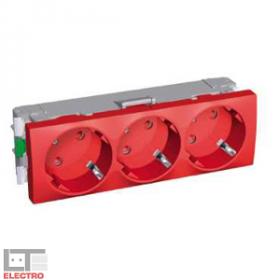 ALB45264 Розетка 2к+з тройная со шторками 45 гр.Altira Schneider Electric, красная
