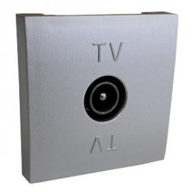 852103 Розетка телевизионная TV оконечная (LK45), АЛЮМИНИЙ