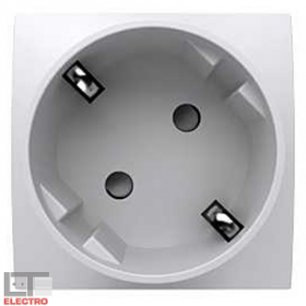 ALB45282 Розетка 2к+з со шторками 45 гр. Altira Schneider Electric, белая