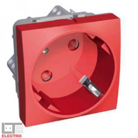 ALB45283 Розетка 2к+з со шторками 45 гр. Altira Schneider Electric, красная