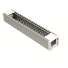 83202 SBR Розеточный блок Efapel 6+1 механизм 45х45 мм (1 заглушка 45х5 мм в компл.), Алюминий