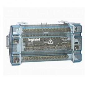 4879 Блок распределительный(кросс-модуль) на DIN-рейку и монтажную плату 4полюса 160A, 15 контактов