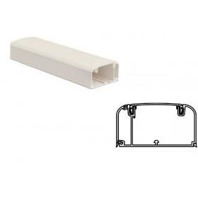 09500 Кабель-канал 90х50мм In-Liner FRONT, с перегородкой, боковой и фронтальной крышками, БЕЛЫЙ