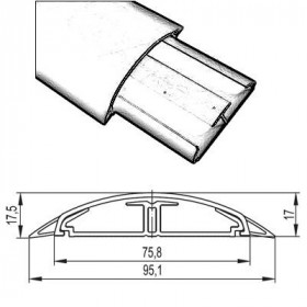 01331 Напольный кабель-канал ДКС 75х17 мм CSP-F Белый