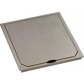 1632PLM Крышка лючка BOWA 112*112 мм на 2 розетки,  IP41, Платина