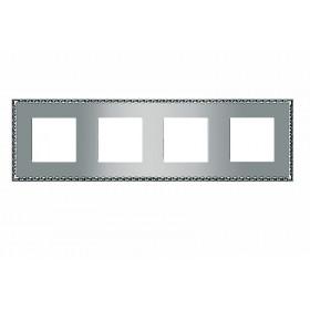 FD01214CB Рамка 4-ая(TOLEDO), Bright Chrome