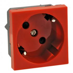 851207 Розетка 2к+3 с защитными шторками, под углом 45 градусов (LK45), КРАСНАЯ