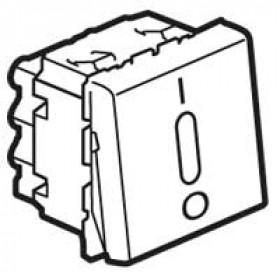 77052 Mosaic Выключатель двухполюсный с подсветкой 2 модуля(45*45мм) 20АХ, БЕЛЫЙ