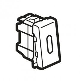 77093 Mosaic Выключатель с 2-х мест с подсветкой 1 модуль(45*22,5мм) 16АХ, БЕЛЫЙ