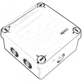 92137 Коробка распределительная IP55 без уплотнителей открытого монтажа, 105x105x55мм, СЕРЫЙ