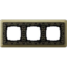 Рамка 3-ая Gira ClassiX Art Бронза/Черный 213662 IP20