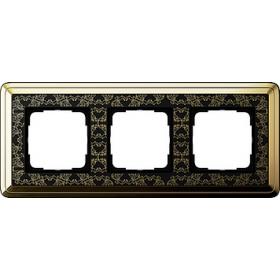 Рамка 3-ая Gira ClassiX Art Латунь/Черный 213672 IP20