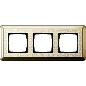 Рамка 3-ая Gira ClassiX Art Латунь/Кремовый 213673 IP20