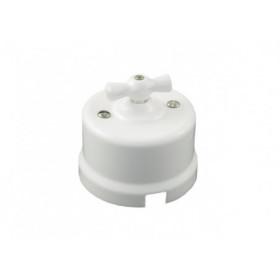 В1-201-01 Выключатель на 1 цепь с 2-х мест, Белый