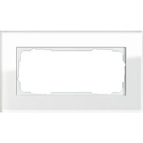 Рамка 1,5-ая Gira Esprit Стекло белое 100112 IP20