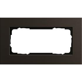 Рамка 1,5-ая Gira Esprit Алюминий/Коричневый 1001127 IP20