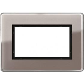 Рамка 1,5-ая Gira Esprit Glass C Стекло дымчатое 1001522 IP20