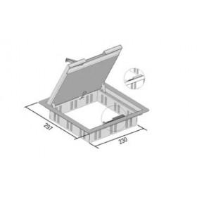 IKDVV26.257 Лючок напольный на 12 модулей 45*45мм для фальш-полов с крышкой 26 мм(VERGOKAN), СТАЛЬ