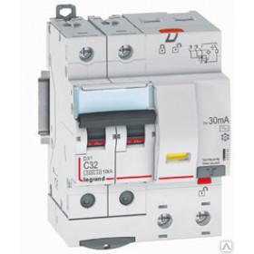 """411177 Дифференциальные авт.выключатель(DX3) 2P 50А 300мА  6кА, хар. """"С"""" тип AC"""