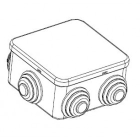 44006 Коробка распределительная IP44 открытого монтажа(JBS080), 85х85х40мм