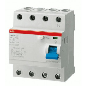 "2CSF204001R3900 Выключатель диф.тока(УЗО) 4-полюса 100А 300мА тип ""AC"" (ABB серия F204 AC-100/0.3)"