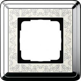 Рамка 1-ая Gira ClassiX Art Хром/Кремовый 211683 IP20