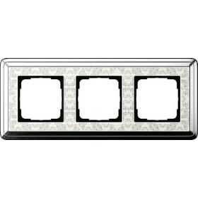 Рамка 3-ая Gira ClassiX Art Хром/Кремовый 213683 IP20