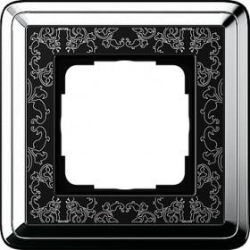 Рамка 1-ая Gira ClassiX Art Хром/Черный 211682 IP20