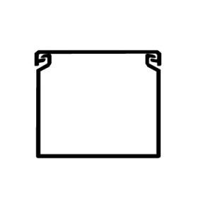 00107RL Короб перфорированный, RL12 40x60, ширина 40 мм, высота 60 мм, Серый