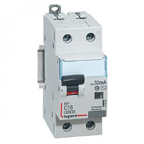 """411021 Дифференциальные авт.выключатель(DX3) 1P+N 6А 300мА  6кА, хар. """"С"""" тип AC"""