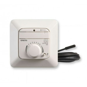 ECO16FJW Терморегулятор Ensto с датчиком тёплого пола и УЗО, 16 А, Белый