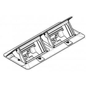 54023 Лючок напольный металлический на 2*2 модуля 45*45мм. Нержавеющая сталь