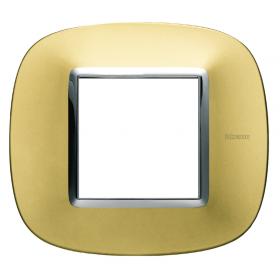Рамка 1-ая Bticino Axolute Матовое золото HB4802OS IP20