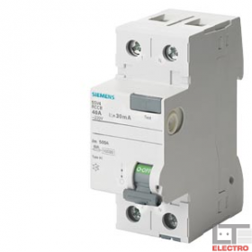 """5SV44170 Выключатель диф.тока(УЗО) 2-полюса 80А 100мА тип """"AC"""""""