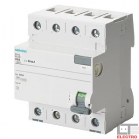 """5SV47460 Выключатель диф.тока(УЗО) 4-полюса 63А 500мА тип """"AC"""""""