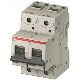 """2CCS882001R0634 Автоматический выключатель 2-полюса 63А хар. """"С""""  25кА (ABB S802C) ширина 3 модуля"""