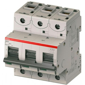 """2CCS863001R0634 Автоматический выключатель 3-полюса 63А хар. """"С""""  50кА(ABB S803S) ширина 4,5 модуля"""