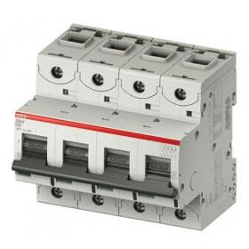 """2CCS884001R0104 Автоматический выключатель 4-полюса 10А хар. """"С""""  25кА (ABB S804C) ширина 6 модулей"""