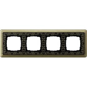 Рамка 4-ая Gira ClassiX Art Бронза/Черный 214662 IP20