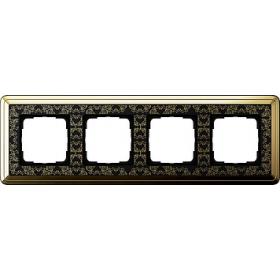 Рамка 4-ая Gira ClassiX Art Латунь/Черный 214672 IP20