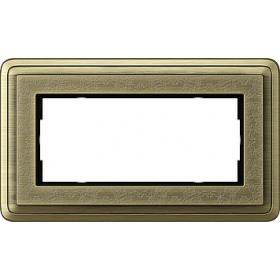 1002661 Рамка 2-ая без перегородки(ClassiX Art), Бронза/Бронза