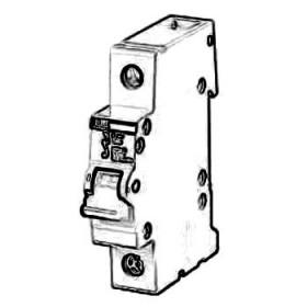 2CDE281001R0063 Выключатель нагrрузки(рубильник) модульный(E201r) 1-полюс 63A рычаг красный