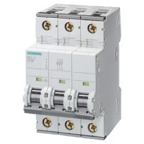 5SY43637 Автоматический выключатель, 3Р, 63А, хар. С, 10кА